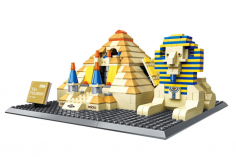 Wange Klemmbausteine - Pyramide von Gizeh Sphinx - 643 Teile