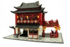 Wange Klemmbausteine - Chinesisches Hotel - 1643 Teile