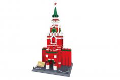 Wange Klemmbausteine - Spasski Turm Kreml Moskau - 1048 Teile