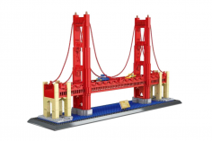 Wange Klemmbausteine - Golden Gate Bridge San Fransisco - 2038 Teile