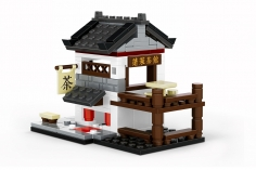 Wange Klemmbausteine - Chinesisches Tee Haus - 162 Teile