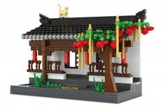 Wange Klemmbausteine - Gartenlaube im Hui Stil - 506 Teile