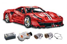 Cada Klemmbausteine - MASTER Red Super Car 1:8 - RC Set RTR mit Fernsteuerung und Antriebsset - 3187 Teile