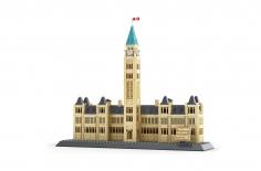 Wange Klemmbausteine - Parlamentsgebäude von Kanada Ottawa - 608 Teile