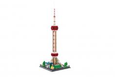 Wange Klemmbausteine - Oriental Pearl Tower Shanghai - 1109 Teile