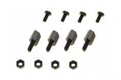 Distanzbolzen Set aus Nylon 8mm M2