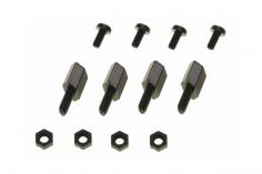 Distanzbolzen Set aus Nylon 10mm M2