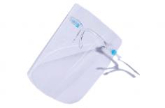 Gesichtsschutz mit Brillenhalterung Visier/Schutzschild aus Kunststoff