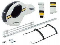 Microheli Scale Rumpf Hughes 300 in weiß für Blade 230S und 230S V2
