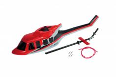 Microheli Scale Rumpf im roten Design Bell UH-1 Huey für Blade 230S und 230S V2