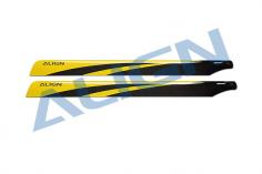 Align Carbon Hauptrotorblätter 650mm in gelb für den T-REX 650X