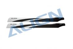 Align Carbon Hauptrotorblätter 650mm in weiß für den T-REX 650X