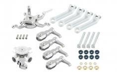 Microheli Tuning 4-Blatt Hauptrotorkopf Set in silber für Blade 230S und 230S V2