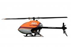 OMPHobby M1 Heli in orange, integrierter S-FHSS Empfänger, Anschluss für S-BUS und DSMX, BNF