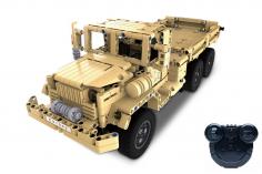 CaDa Klemmbausteine Bricks Militärlastwagen RC Set RTR mit Fernsteuerung und Antriebsset 545 Teile