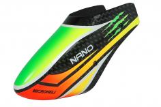 Microheli Fiberglas Haube aus CARBON im Speedy Scratch Design für den Blade Nano S2