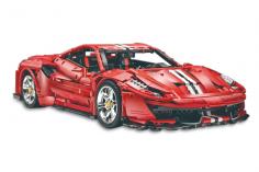 Cada Klemmbausteine - MASTER Red Super Car 1:8 - 3236 Teile
