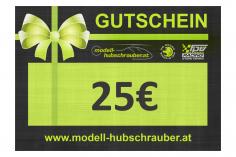 Geschenkgutschein 25€ PDF zum selbst ausdrucken
