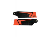 1st Heckrotorblätter aus CFK 95mm in neon Orange