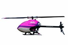 OMPHobby M1 Heli in violett, integrierter OMP Empfänger, Anschluss für S-BUS und DSMX, BNF