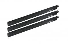 Microheli carbon Hauptrotorblätter 238mm 3 Blatt Satz für Blade 230 S, 230 S V3