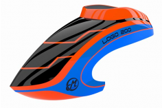 Mikado Haube LOGO 200 neon-orange/blau