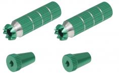 Steuerknüppelendstück / Gimbal Stick End / Typ B in grün mit M3 Gewinde 2 Stück