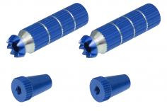 Steuerknüppelendstück / Gimbal Stick End / Typ B in dunkel blau mit M3 Gewinde 2 Stück