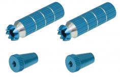 Steuerknüppelendstück / Gimbal Stick End / Typ B in hell blau mit M3 Gewinde 2 Stück
