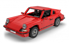 Cada Klemmbausteine -Classic Sports Car 1:12.5 - optional aufrüstbar mit RC Set - 1429 Teile