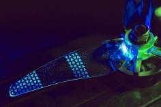 Gemfan Moonlight LED Prop V2 3-Blatt Propeller mit Elektronik in blau je 4 Stück