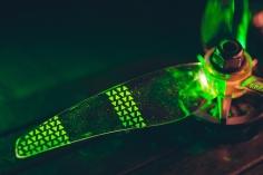 Gemfan Moonlight LED Prop V2 3-Blatt Propeller mit Elektronik in grün je 4 Stück