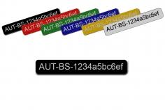 Feuerfestes Kennzeichnungsschild mit Klebefolie mittel 65x10mm zum Beispiel für Ihre persönliche Registrierungsnummer