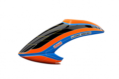 Mikado Haube LOGO 550 SX V3, neon-orange/blau