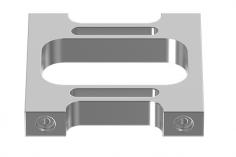 Mikado Motorplatte Aluminium LOGO 550/600/690-30mm