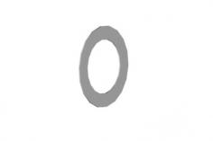 Mikado Paßscheibe 10x16x0,2 4Stück