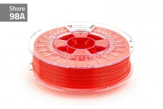Extrudr Filament TPU (Thermoplastic Polyurethane) FLEX MEDIUM in neon rot Ø 1,75mm 0,75Kilo