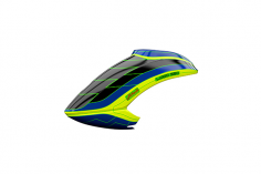 Mikado Haube LOGO 550 schwarz/blau/neon-gelb