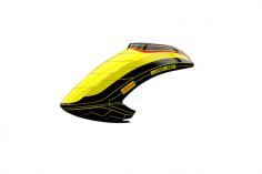 Mikado Haube LOGO 550 Neon-gelb/schwarz/gold