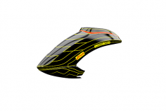 Mikado Haube LOGO 550 schwarz/neon-gelb