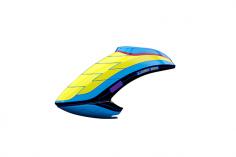 Mikado Haube LOGO 550 neon-gelb/blau/schwarz
