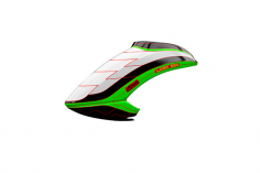 Mikado Haube LOGO 550 weiß/schwarz/neon-grün
