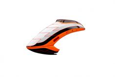 Mikado Haube LOGO 550 weiß/schwarz/neon-orange