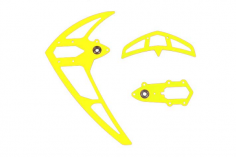 Mikado Leitwerkssatz, neon gelb , LOGO 500/550/600