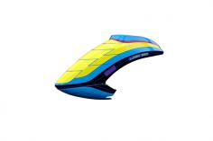 Mikado Haube LOGO 550 SE V3, neon-gelb/blau/schwarz
