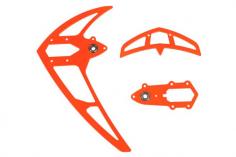 Mikado Leitwerkssatz, neon rot , LOGO 550/600/690 SX
