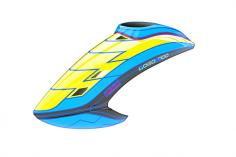 Mikado Haube LOGO 700, neon-gelb/blau/schwarz