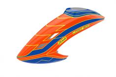 Mikado Haube LOGO 800 neon-orange/blau