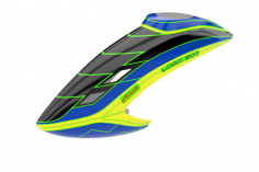 Mikado Haube LOGO 800 schwarz/blau/neon-gelb
