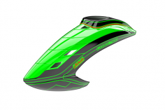 Mikado Haube LOGO 700, neon-grün/schwarz